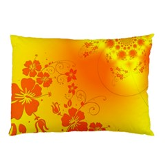 Flowers Floral Design Flora Yellow Pillow Case (two Sides)