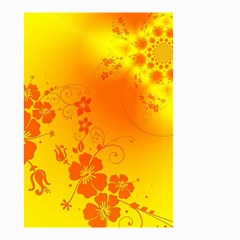 Flowers Floral Design Flora Yellow Small Garden Flag (Two Sides)