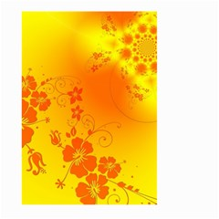 Flowers Floral Design Flora Yellow Large Garden Flag (Two Sides)