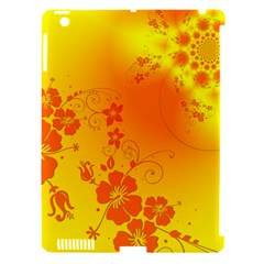 Flowers Floral Design Flora Yellow Apple Ipad 3/4 Hardshell Case (compatible With Smart Cover)