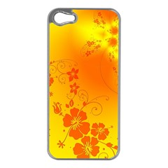 Flowers Floral Design Flora Yellow Apple Iphone 5 Case (silver)