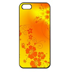 Flowers Floral Design Flora Yellow Apple Iphone 5 Seamless Case (black)