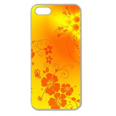 Flowers Floral Design Flora Yellow Apple Seamless Iphone 5 Case (clear)