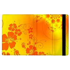 Flowers Floral Design Flora Yellow Apple Ipad 2 Flip Case