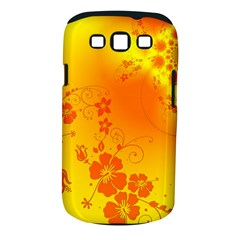 Flowers Floral Design Flora Yellow Samsung Galaxy S Iii Classic Hardshell Case (pc+silicone)