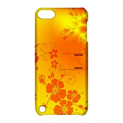 Flowers Floral Design Flora Yellow Apple Ipod Touch 5 Hardshell Case With Stand