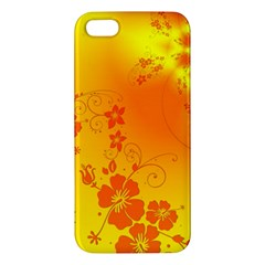 Flowers Floral Design Flora Yellow Apple Iphone 5 Premium Hardshell Case