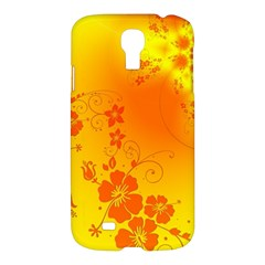 Flowers Floral Design Flora Yellow Samsung Galaxy S4 I9500/I9505 Hardshell Case