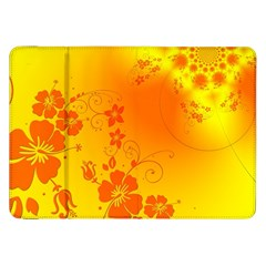 Flowers Floral Design Flora Yellow Samsung Galaxy Tab 8 9  P7300 Flip Case