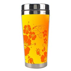 Flowers Floral Design Flora Yellow Stainless Steel Travel Tumblers