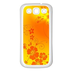 Flowers Floral Design Flora Yellow Samsung Galaxy S3 Back Case (White)