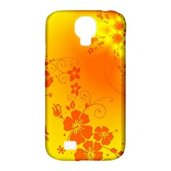 Flowers Floral Design Flora Yellow Samsung Galaxy S4 Classic Hardshell Case (pc+silicone)