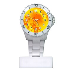 Flowers Floral Design Flora Yellow Plastic Nurses Watch