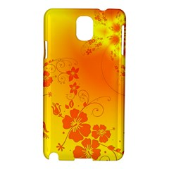 Flowers Floral Design Flora Yellow Samsung Galaxy Note 3 N9005 Hardshell Case