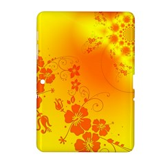 Flowers Floral Design Flora Yellow Samsung Galaxy Tab 2 (10 1 ) P5100 Hardshell Case