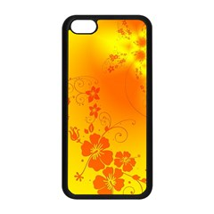 Flowers Floral Design Flora Yellow Apple iPhone 5C Seamless Case (Black)