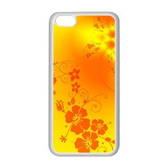 Flowers Floral Design Flora Yellow Apple Iphone 5c Seamless Case (white)