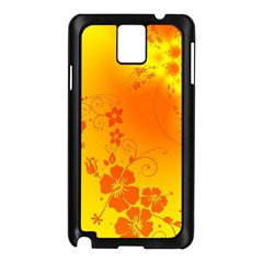 Flowers Floral Design Flora Yellow Samsung Galaxy Note 3 N9005 Case (black)