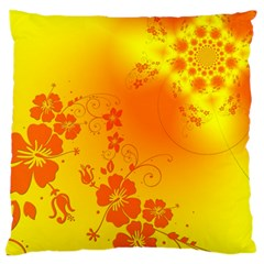 Flowers Floral Design Flora Yellow Standard Flano Cushion Case (two Sides)