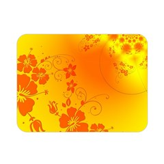 Flowers Floral Design Flora Yellow Double Sided Flano Blanket (mini)