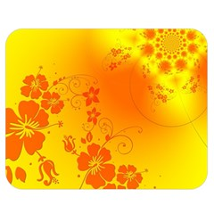 Flowers Floral Design Flora Yellow Double Sided Flano Blanket (medium)