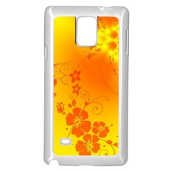 Flowers Floral Design Flora Yellow Samsung Galaxy Note 4 Case (white)