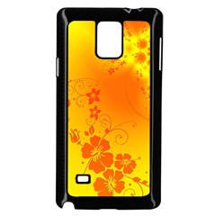 Flowers Floral Design Flora Yellow Samsung Galaxy Note 4 Case (black)