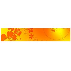 Flowers Floral Design Flora Yellow Flano Scarf (large)
