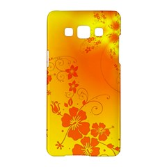 Flowers Floral Design Flora Yellow Samsung Galaxy A5 Hardshell Case