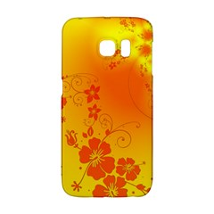 Flowers Floral Design Flora Yellow Galaxy S6 Edge