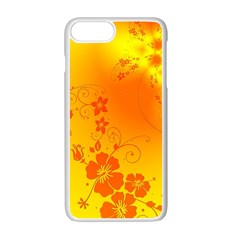 Flowers Floral Design Flora Yellow Apple Iphone 7 Plus White Seamless Case