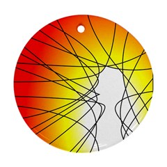 Spirituality Man Origin Lines Ornament (Round)