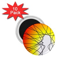 Spirituality Man Origin Lines 1 75  Magnets (10 Pack)