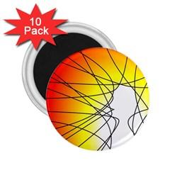 Spirituality Man Origin Lines 2 25  Magnets (10 Pack)