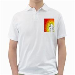 Spirituality Man Origin Lines Golf Shirts