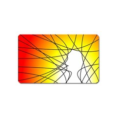 Spirituality Man Origin Lines Magnet (name Card)