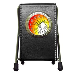Spirituality Man Origin Lines Pen Holder Desk Clocks