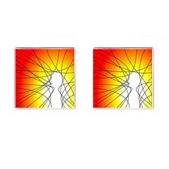 Spirituality Man Origin Lines Cufflinks (square)