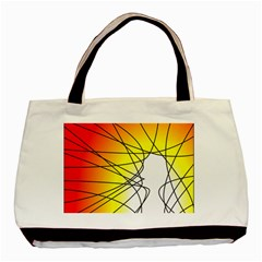 Spirituality Man Origin Lines Basic Tote Bag