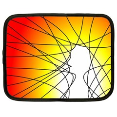 Spirituality Man Origin Lines Netbook Case (large)