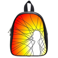 Spirituality Man Origin Lines School Bags (small)