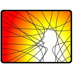 Spirituality Man Origin Lines Fleece Blanket (large)