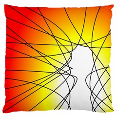 Spirituality Man Origin Lines Large Cushion Case (two Sides)