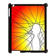 Spirituality Man Origin Lines Apple Ipad 3/4 Case (black)