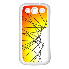 Spirituality Man Origin Lines Samsung Galaxy S3 Back Case (white)