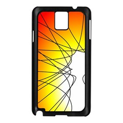 Spirituality Man Origin Lines Samsung Galaxy Note 3 N9005 Case (Black)