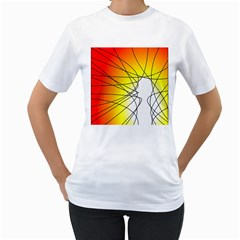 Spirituality Man Origin Lines Women s T-Shirt (White)