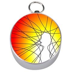 Spirituality Man Origin Lines Silver Compasses