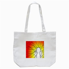 Spirituality Man Origin Lines Tote Bag (White)
