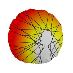 Spirituality Man Origin Lines Standard 15  Premium Flano Round Cushions